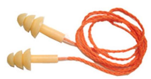 Protetor Auricular em Flanges de Silicone com Cordão em Poliéster CA 16048