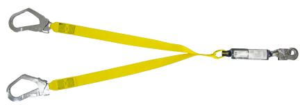 Talabarte de Segurança duplo em Fita com Mosquetão 55 mm com ABS