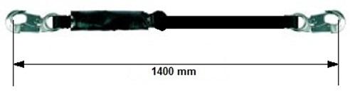 Talabarte Simples com Absorvedor de Energia Gancho 20mm  CA11686