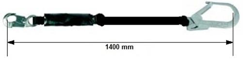 Talabarte Simples com Absorvedor de Energia Gancho 54mm CA11686