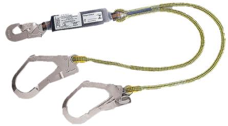 Talabarte Y em corda de poliamida com ABS - Mosquetão 55 mm