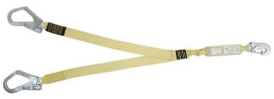 Talabarte Y em Fita de Aramida com ABS - Mosquetão 55 mm