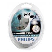Kit Lampada Philips Xtreme Vision H4 55w 12v - Efeito Xenon