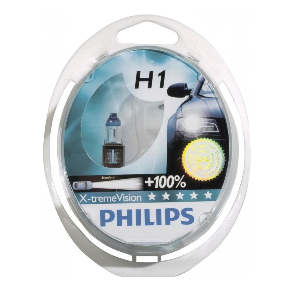 Kit Lampada Philips Xtreme Vision H1 55w 12v - Efeito Xenon