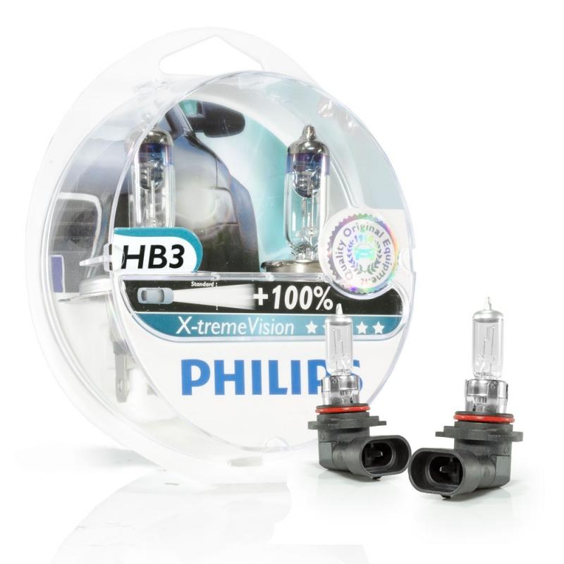 Kit Lampada Philips Xtreme Vision HB3 9005 55w 12v - Efeito Xenon