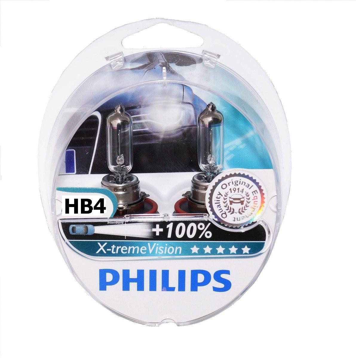 Kit Lampada Philips Xtreme Vision HB4 9006 55w 12v - Efeito Xenon