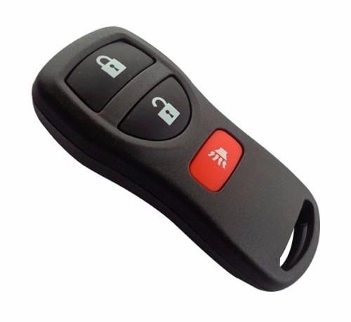Capa Controle Alarme Nissan Frontier X-terra 3 Botões