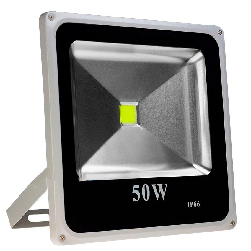 Refletor Led 50w - Holofote Branco Frio - Ip66 Bivolt Slim  - a3mmagazine