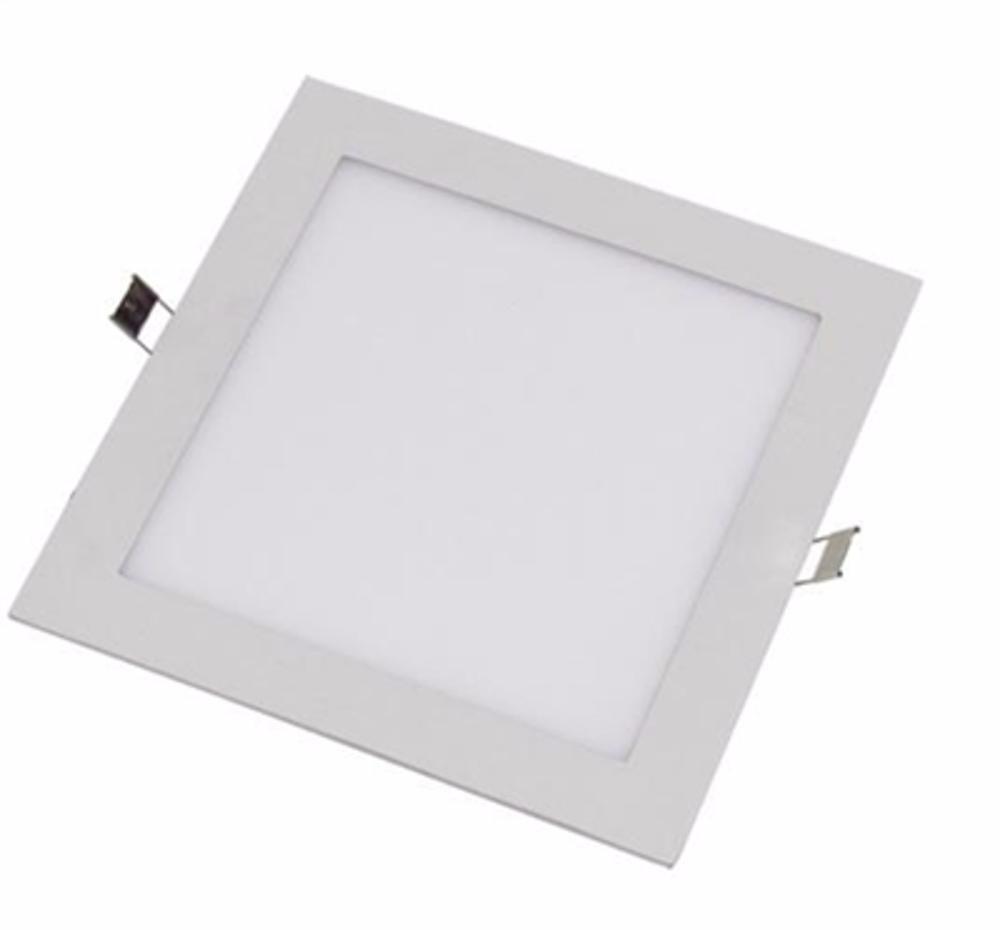 Painel Plafon Luminária Led Quadrado Embutir Slim 25w  - a3mmagazine