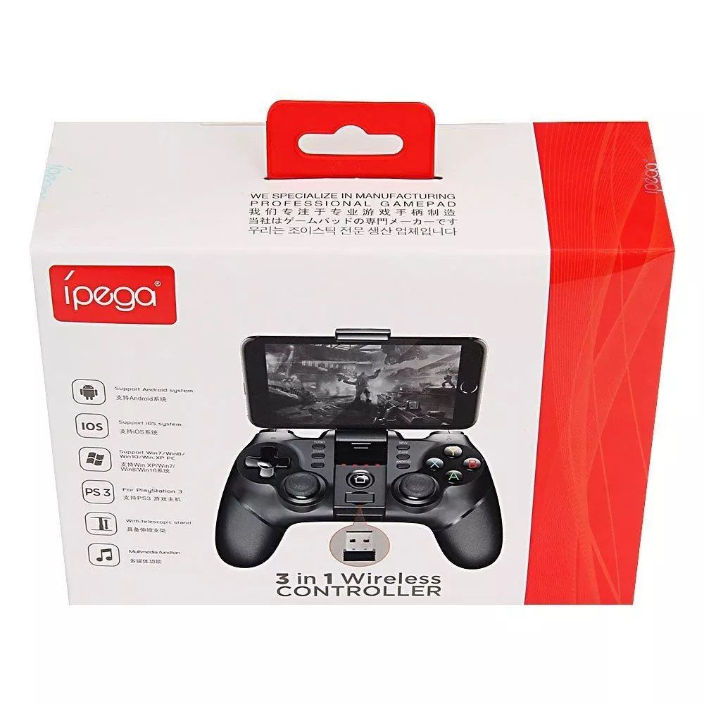 Controle 3 Em 1 Wireless Jogo Ipega Pg -9076 Game Pad Pro  - a3mmagazine
