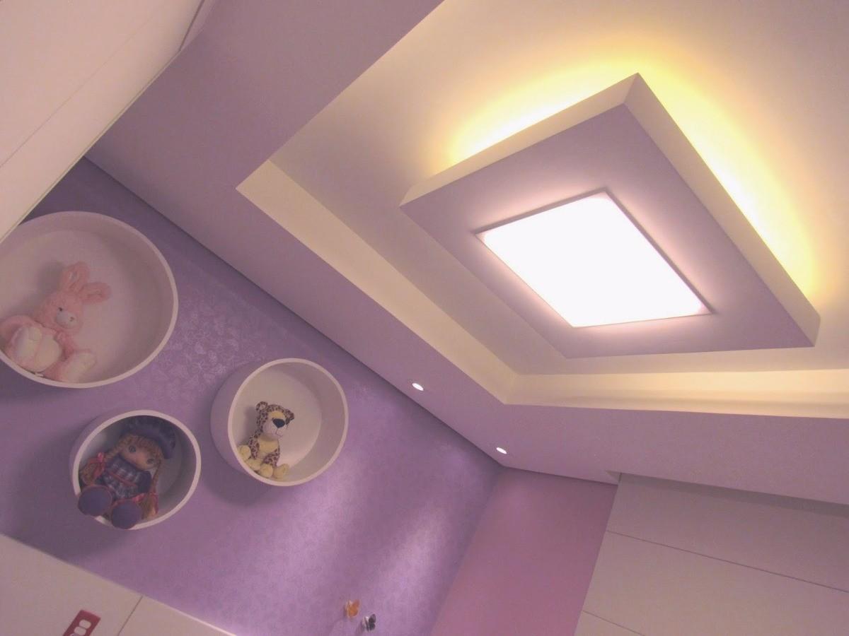 Painel Plafon Luminária Led Quadrado Sobrepor 25w  - a3mmagazine