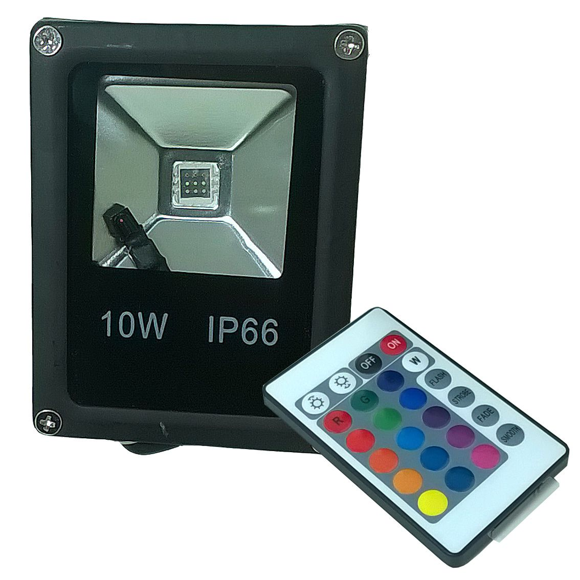 Refletor Holofote Led Rgb 10w Ip65 Bivolt Colorido P/ Jardim  - a3mmagazine