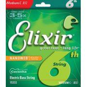 Corda Avulsa Elixir Nanoweb para baixo (6a Corda) (Modelo E15332)