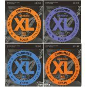 Encordoamento Daddario XL Chromes Flat para guitarra