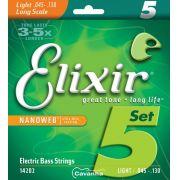 Encordoamento Elixir Nanoweb para baixo de 5 Cordas (Modelo ...