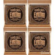 Encordoamento Ernie Ball Everlast Coated Phosphor Bronze para violão acústico