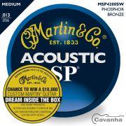 Encordoamento Martin SP Phosphor Bronze 013 para violão (aço)
