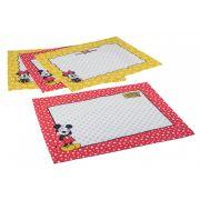 Jogo Americano Estampado 4 lugares Mickey e Minnie   Lepper