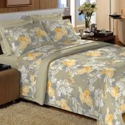 Jogo de cama Casal 200 fios 100% Algodão Comfort Lilly Verde - Guerreiro