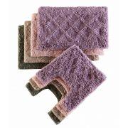 Jogo de Tapetes para Banheiro 2 Pecas Caricia Corttex Losango