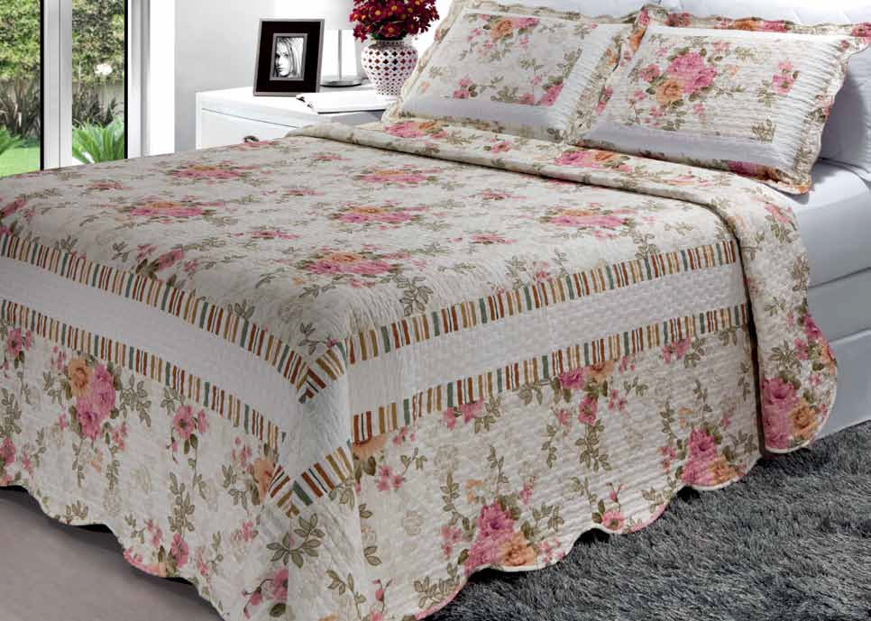 Colcha patchwork casal gigante antial rgica - Imagenes de colchas para camas ...