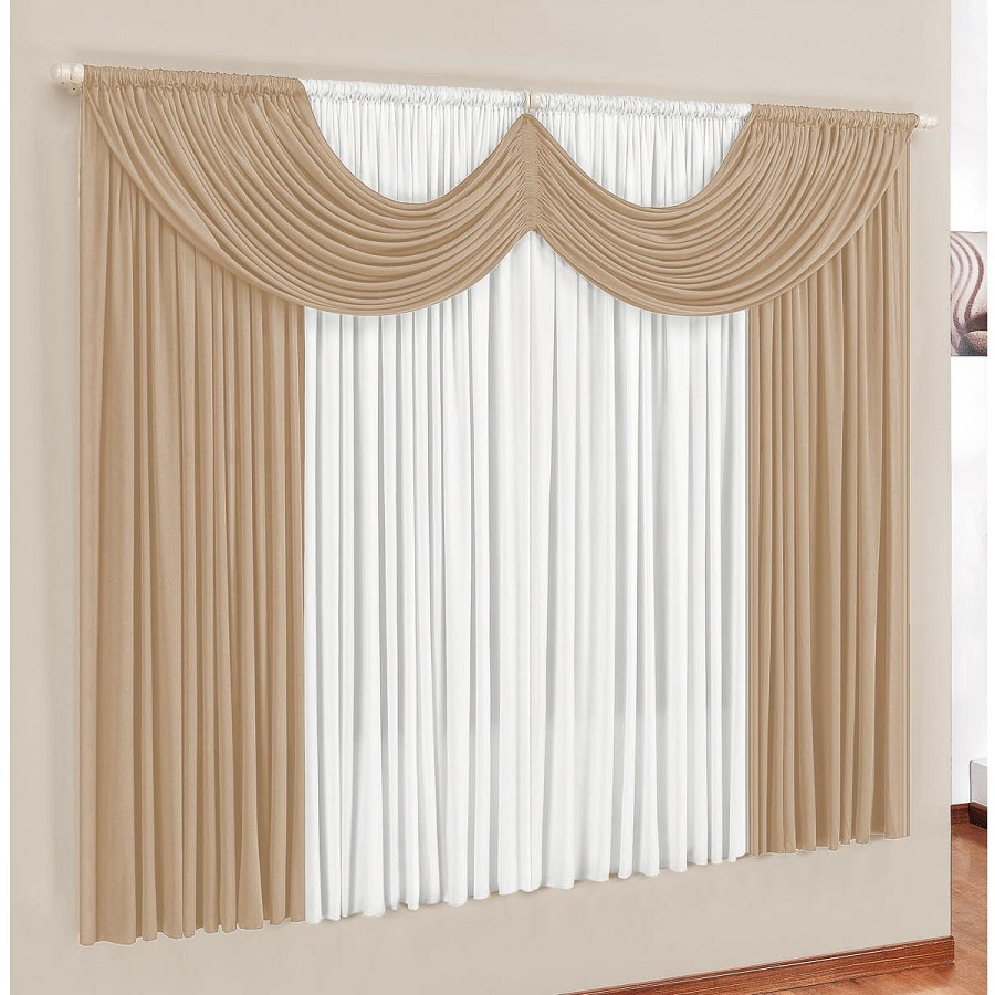Cortina de janela em malha com bando 300x250 dispensa passar for Cortinas para cortinas