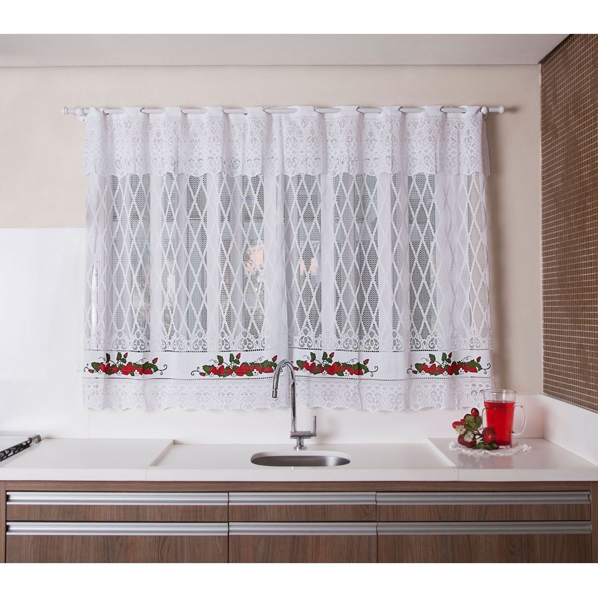 Cortinas De Baño Aki:cortina_para_janela_de_cozinha_de_renda_2_00x1_20_moranguinhos_723_1