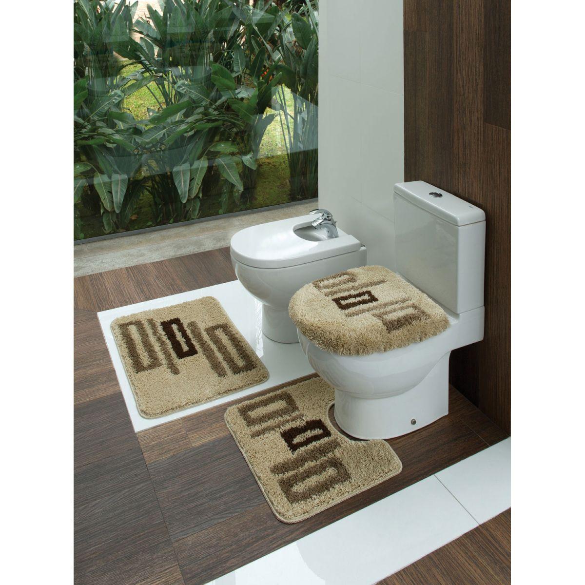 Jogo De Tapete Jolitex Para Cozinha Kit De Tapetes Para Jongose  #7B6F50 1200x1200 Balança De Banheiro Na Lojas Americanas