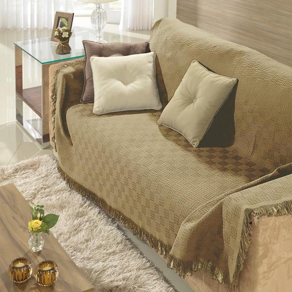 manta para sofa com renda
