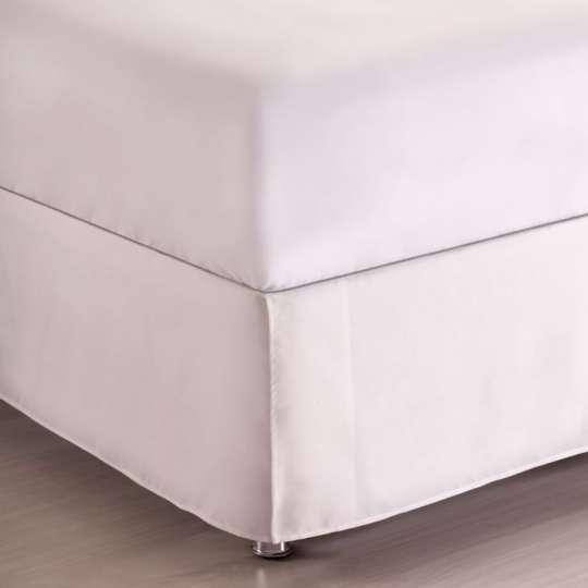 Saia Para Cama Box King Microtec Branca | Corttex