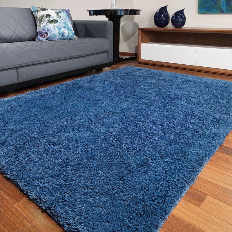 Tapete de Sala e Quarto Pelo Alto Jolitex 1,50×2,00 Azul ~ Tapete Quarto Jolitex