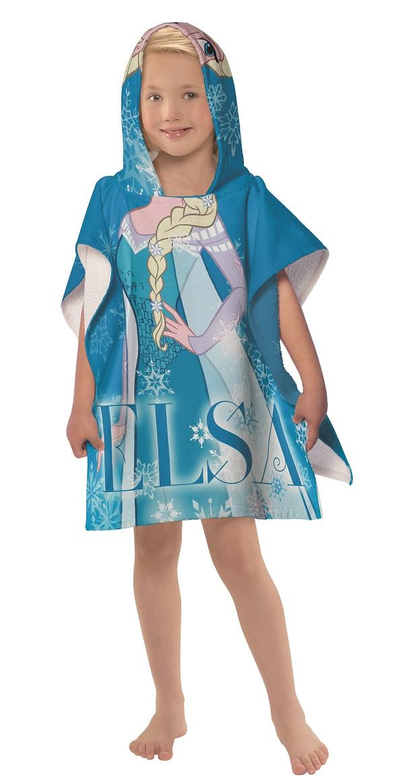 Toalha Poncho Com Capuz Elsa Frozen   Lepper