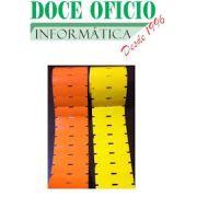 10 ROLOS ETIQUETA NÃO ADESIVA GONDOLA 100X30 1 COLUNA 25 METROS (COR LARANJA)