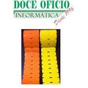20 ROLOS ETIQUETA ADESIVA GONDOLA 100X30 1 COLUNA 25 METROS (COR BRANCA)