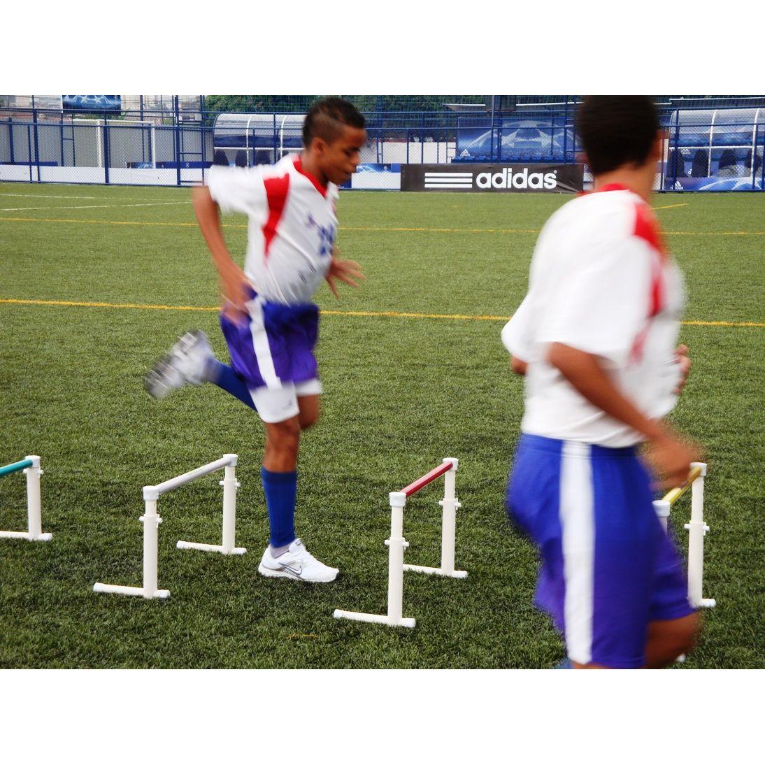 BARREIRAS DE SALTOS ALTURA VARIÁVEL 30-50CM PRO  KIT COM 3 PEÇAS  - Actualsports  Equipamentos Esportivos
