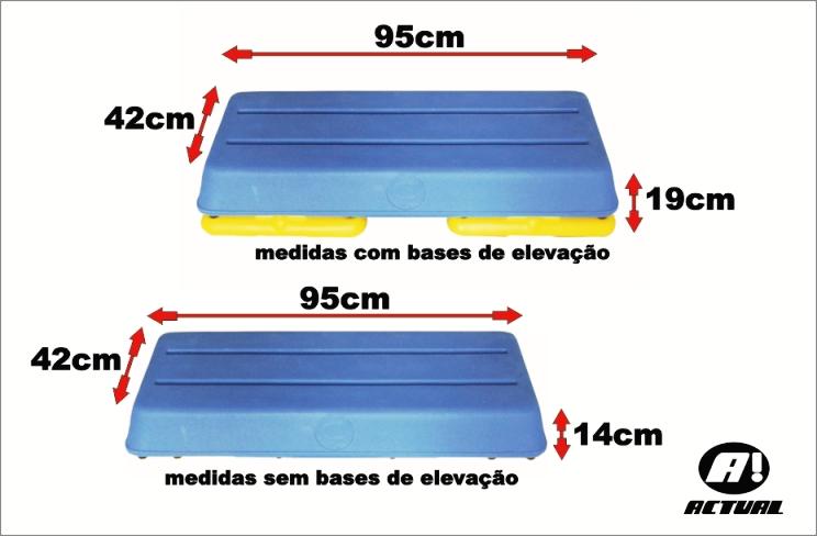STEP PROFISSIONAL 95X40X14CM COM BASE ELEVAÇÂO 5CM  - Actualsports  Equipamentos Esportivos