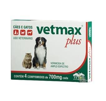 VETMAX PLUS (VERMÍFUGO) 4 COMPRIMIDOS VETNIL