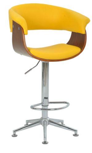 Banqueta Betim Amarela Base Estrela - Moln Design Furniture
