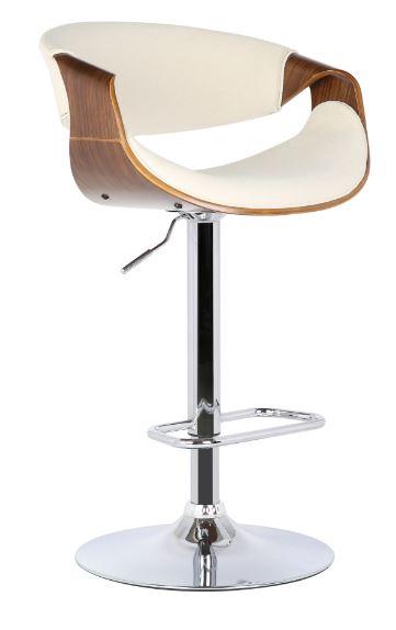 Banqueta Nicole Tecido Linho Bege - Moln Design Furniture