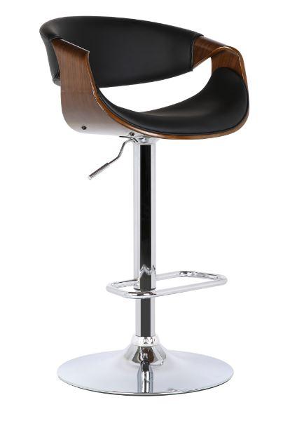 Banqueta Nicole PU Preto - Moln Design Furniture