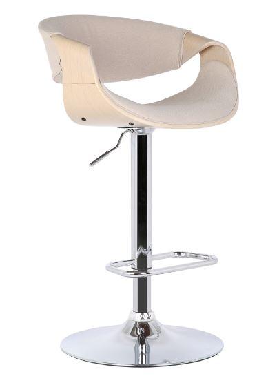 Banqueta Nicole Tecido Linho Cru - Moln Design Furniture
