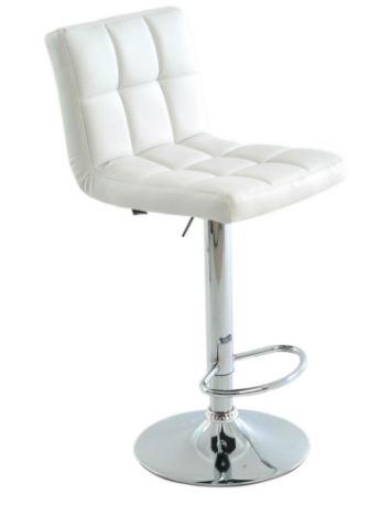 Banqueta Recife Branca Base Disco - Moln Design Furniture