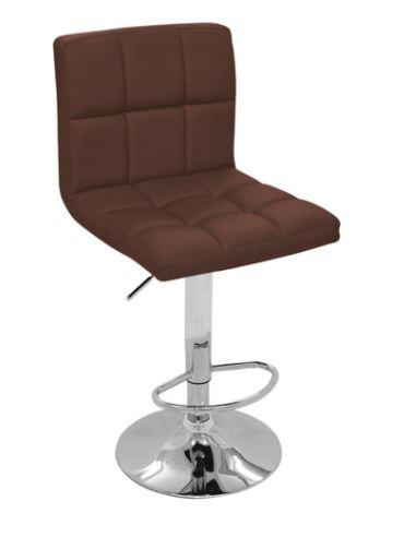 Banqueta Recife Marrom Base Disco - Moln Design Furniture