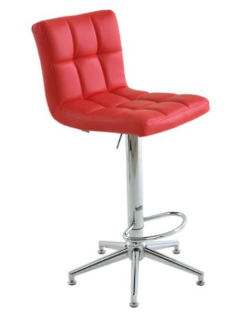 Banqueta Recife Vermelha Base Estrela - Moln Design Furniture