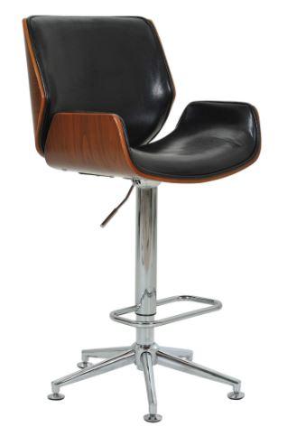 Banqueta Santos Preta Base Estrela - Moln Design Furniture