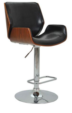 Banqueta Santos Preta Base Disco - Moln Design Furniture