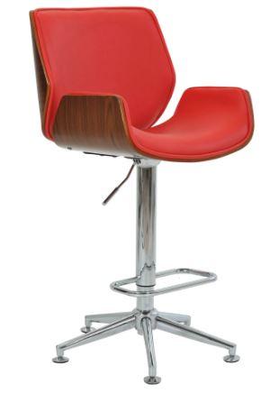 Banqueta Santos Vermelha Base Estrela - Moln Design Furniture