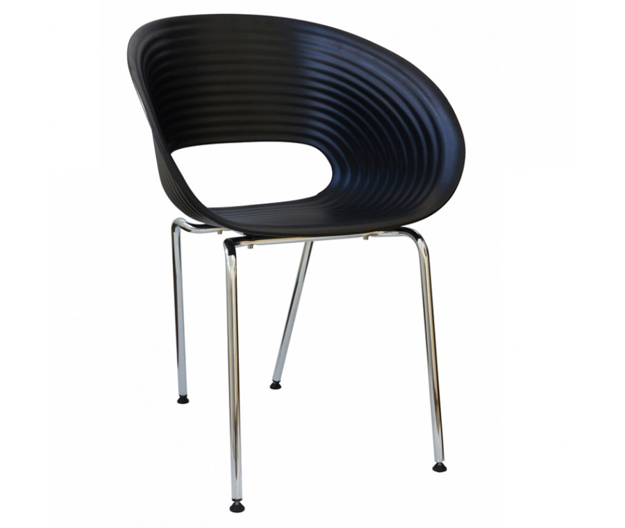 Cadeira Circulos Polipropileno Preta - Moln Design Furniture