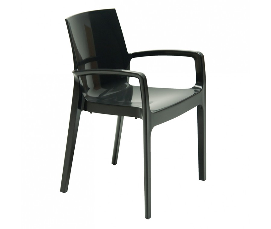 Cadeira Cream Polipropileno Preto - Moln Design Furniture