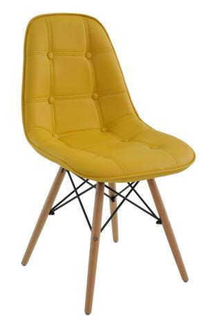 Cadeira Eiffel Botone Amarela - Moln Design Furniture